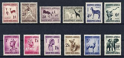 BRITISH COLONIES SOUTH WEST AFRICA 1954 QE II SG 154-165 Complete Set MNH