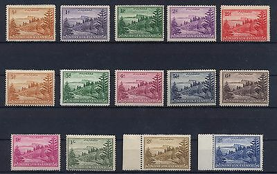 BRITISH COLONIES NORFOLK 1947-59 Complete Set MNH