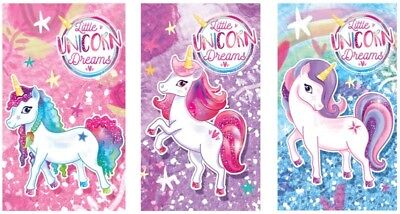 6, 12, 24, 48 Mini Unicorn  Notebooks Girls Party Note Pad Loot Bag Fillers