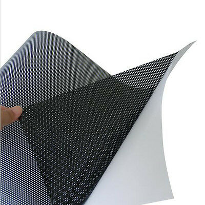 210x297mm Black One-Way Perforated Vinyl Privacy Window Film Adhesive Glass Wrap