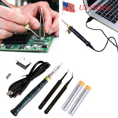 USB Soldering Iron Pen Mini Portable Electric Powered Gun Tip Touch Switch 5V/8W