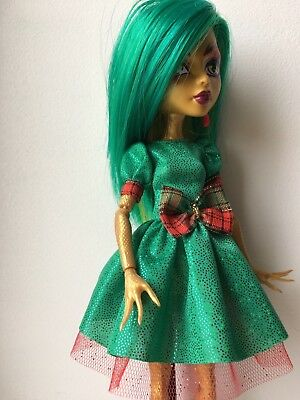 Green Christmas Dress For Monster High doll!