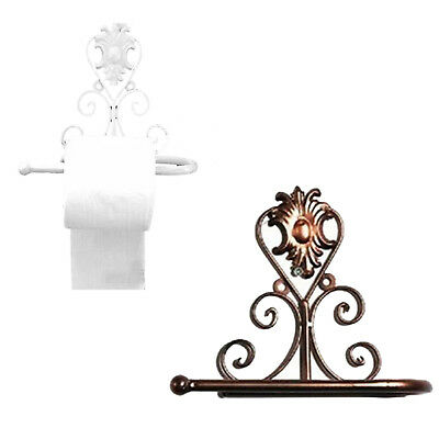 European Style Iron Toilet Roll Paper Holder Wall Mount Rack TG