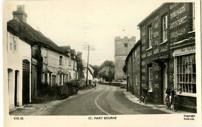 1954 postcard village store ST MARY BOURNE Hampshire