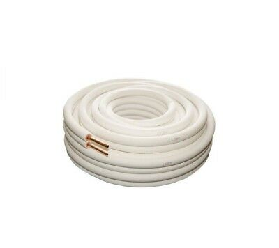 Air Conditioner Pair Coil Tube 1/4 3/8 Insulated Copper Pipe Twin Pair 20m metre