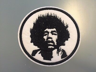 JIMI HENDRIX Patch - Embroidered Iron On Patch 3 ""