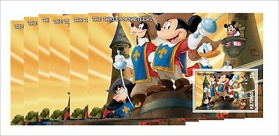 6X Disney The Three Musketeers Souvenir Sheets Mnh  Unperforated