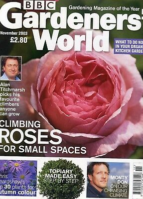 Gardeners: World Magazine: Nov 2003: Climbing Roses for Small Space