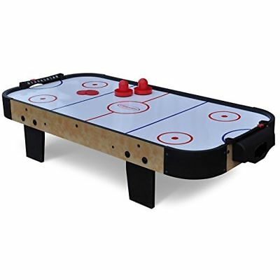 3FT Air Hockey Table Rounded Corners 2 Pushers & 2 Pucks Battery Operated Fan