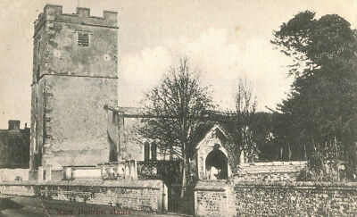 1906 postcard The Church ST MARY BOURNE Hampshire