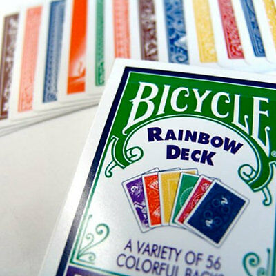 Bicycle Rainbow Deck - Different Backs - Magic Tricks - Playing Cards - New