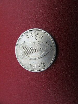 1942 irish silver shilling better grade