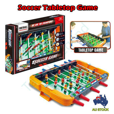 55 x 33cm Foosball Tabletop Game Set 22 Players 2 Soccer Balls 8 Steel Rods Toy