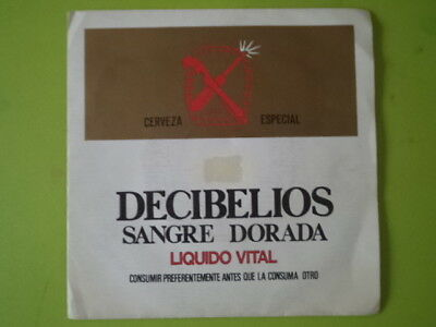 "Decibelios Single 7"" Promo. Punk.  Sangre Dorada"