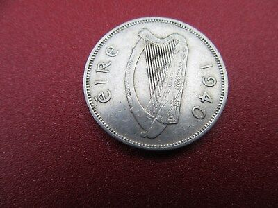 1940 irish silver florin better grade