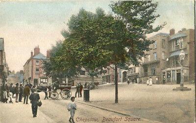 190s postcard Beaufort Square CHEPSTOW Monmouthshire