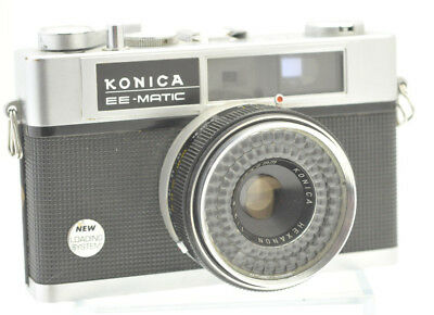 Vintage Konica EE-Matic Deluxe 35mm, Film Camera with Rangefinder Focus