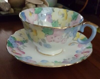 Crown Staffordshire Tea Cup And Saucer 714910