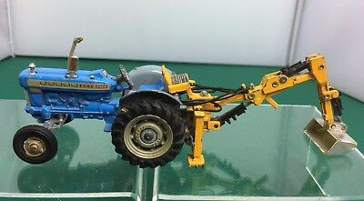 Vintage Diecast Corgi Model 72 - Ford Super Major Tractor with Back Trencher