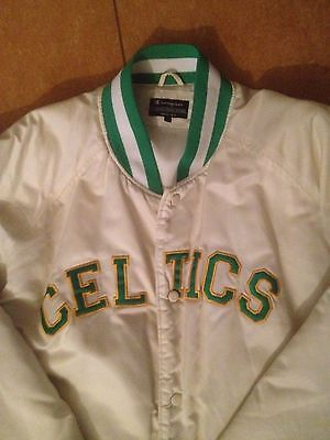 Boston Celtics Champion Vintage Bomber Jacke Basketball Nba Irisch Men Size L