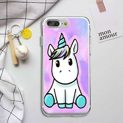 Unicorn Pattern Soft TPU Silicone Painted Ultra Slim Case Cover For iPhone 7 6
