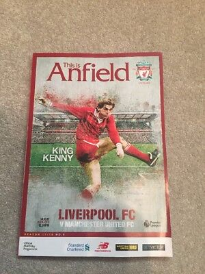 Liverpool FC V Manchester United Official Match Day Programme