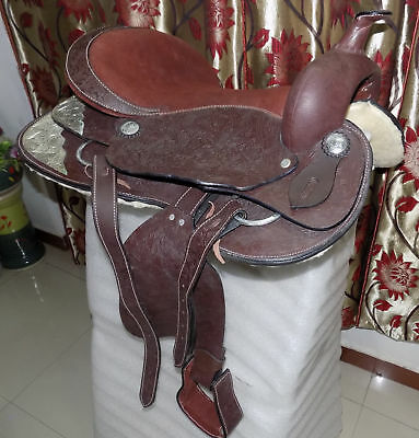 All Purpose Synthetic  Treeless WESTERN Horse Saddle Size 12,13,14,15,16,17,18