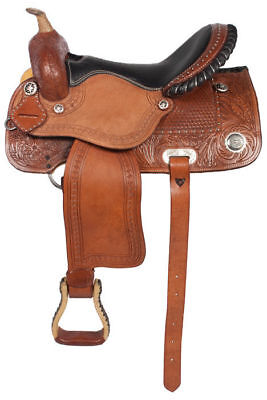 All Purpose Synthetic Treeless WESTERN Horse Saddle Size 15,16,17,18(free girth)