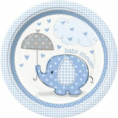 Set Of 12 Blue Elephant Baby Shower 14X8 Size Cake Bags