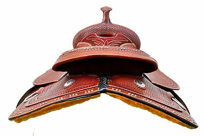 Horse Synthetic  Treeless WESTERN Saddle (Free Girth and fly veil)  15''16'17'18