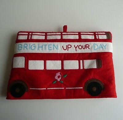 Cath Kidston Felt Padded Iconic British Red Bus Teapot Tea Cosy Brighten Up Day