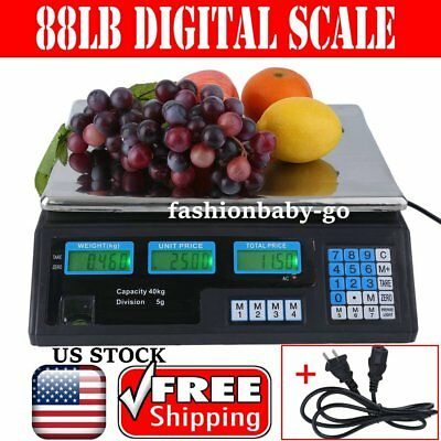40KG Digital Scale Computing Deli Food Produce Electronic Counting Weight HM