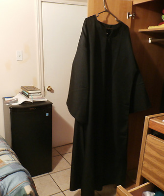 Large Black Wicca Pagan Ritual Robe with Belt