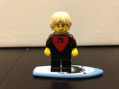Lego Collectable Minifigure Series 17 Pro Surfer With Shark Surfboard