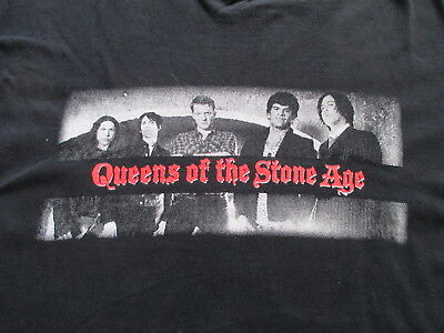 Queens of the Stone Age 2014 Tour Black White Red T Shirt L Large XL X-Large