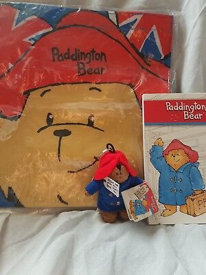 Paddington Bear package mini gifts , notepad , keyring & shopper bag genuine PB