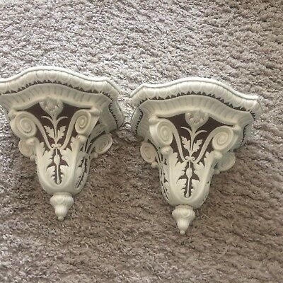Antique Copeland Parian Wall Brackets Sconces C1850