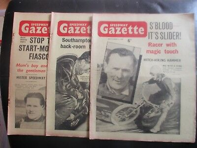 1949 Collection (11) Of 3  Of The  Speedway Gazette  Magazine