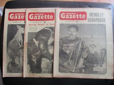 1949 Collection (12) Of 3  Of The  Speedway Gazette  Magazine