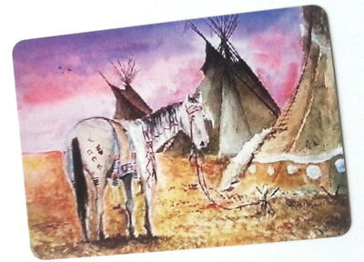 Swap / Playing Card ~ Teepee Horse ~ Modern Wide ~ Linen