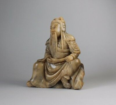 19th Century Chinese Soapstone Figure of a Male