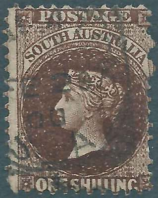 SOUTH AUSTRALIA 1858-1902 Q. Vic 1/- Brown ACSC8b attractive fine used