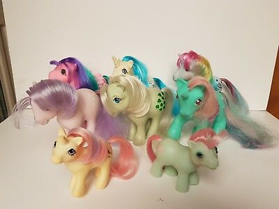 My Little Pony G1 Vintage Bundle of 8 Ponies Custom/Restore/Play (1980's)