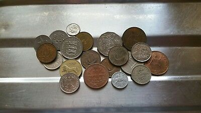 joblot of coins from around the world. antique and new