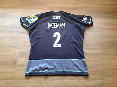 Leicester Tigers. Player Issue, Match Worn and Washed Rugby Shirt. Greg Bateman.