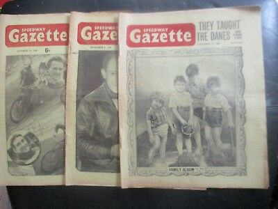 1949 Collection (14) Of 3  Of The  Speedway Gazette  Magazine