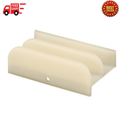 Line Products M 6219 Sliding Shower Door Bottom Guide 12 in x 3 in Plastic