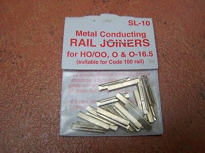 Peco ~ SL-10 Metal Conducting Rail Joiners (pkt of 24) ~ HO/OO