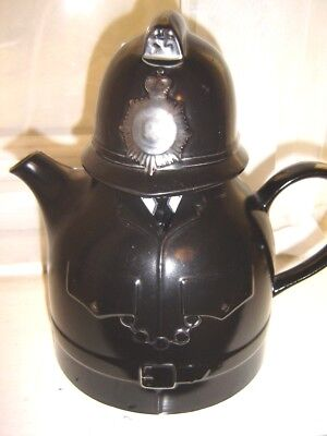"9"" High Carlton Ware Police Uniform  Black Teapot"