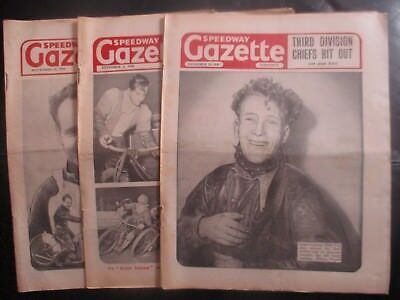 1949 Collection (15) Of 3  Of The  Speedway Gazette  Magazine
